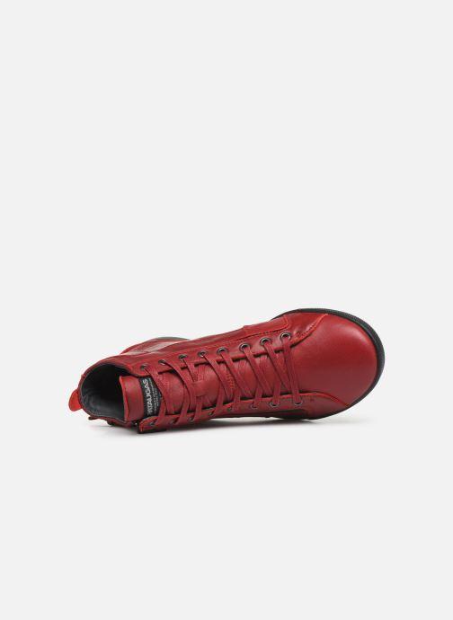 Baskets Pataugas Palme C Rouge vue gauche