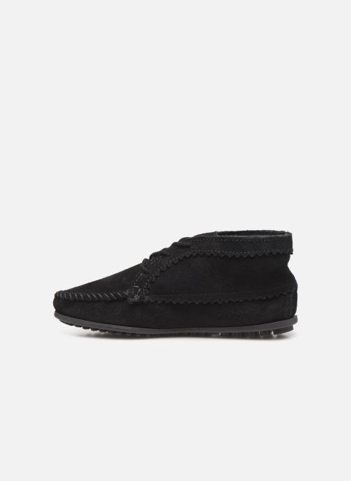 Bottines et boots Minnetonka Suede Ankle Boot Noir vue face