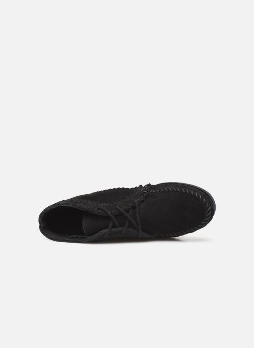 Bottines et boots Minnetonka Suede Ankle Boot Noir vue gauche