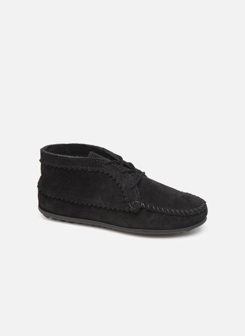 Bottines et boots Minnetonka Suede Ankle Boot Noir vue détail/paire