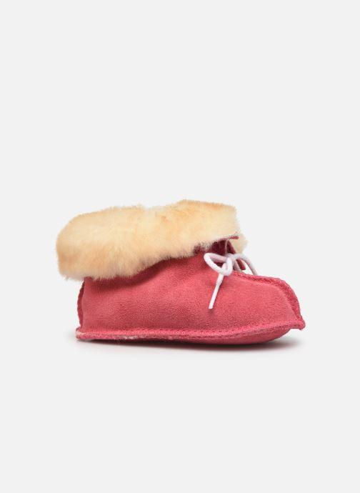 Hjemmesko Minnetonka Sheepskin Bootie Pink se bagfra
