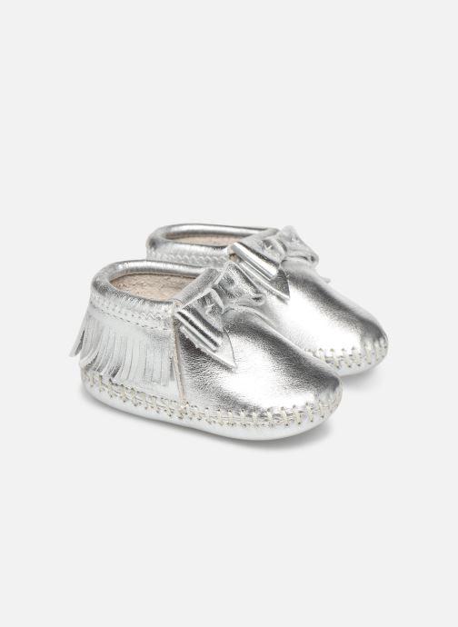Pantofole Minnetonka Rosie Bootie Argento vedi dettaglio/paio