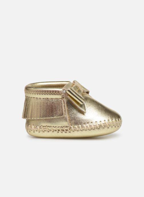 Pantofole Minnetonka Rosie Bootie Oro e bronzo immagine posteriore