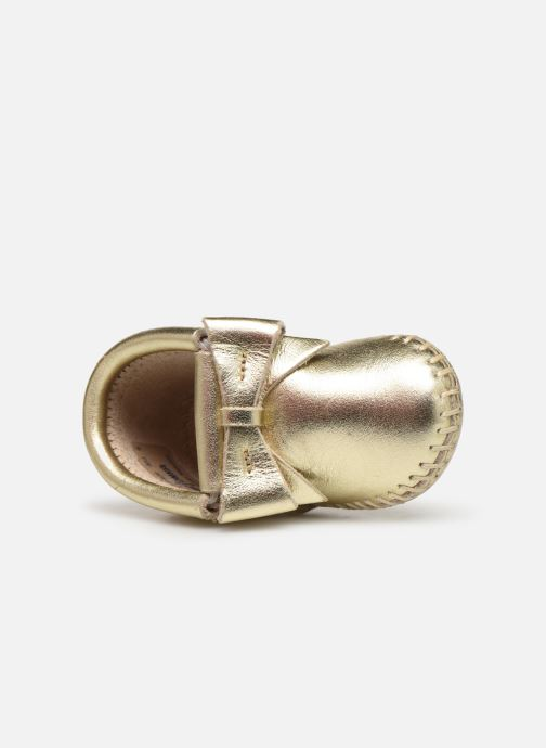 Slippers Minnetonka Rosie Bootie Bronze and Gold view from the left