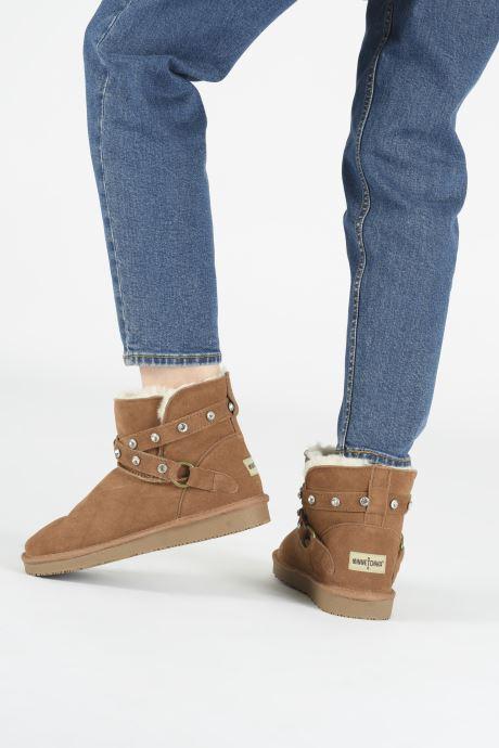 Bottines et boots Minnetonka Eyota Marron vue bas / vue portée sac