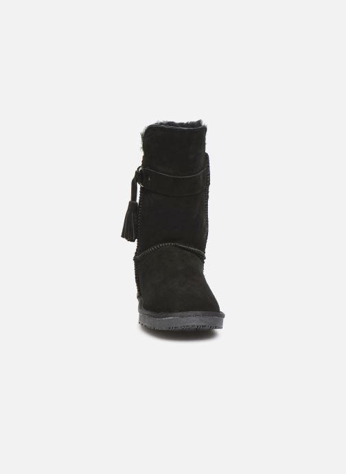 Bottes Minnetonka Kiona Noir vue portées chaussures