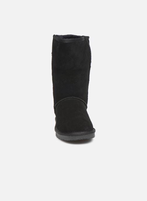 Bottes Minnetonka Berloo Noir vue portées chaussures