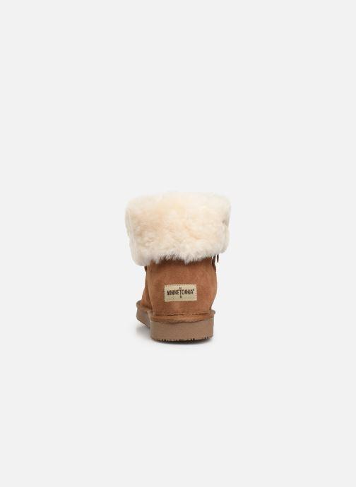 Bottines et boots Minnetonka Binook Marron vue droite
