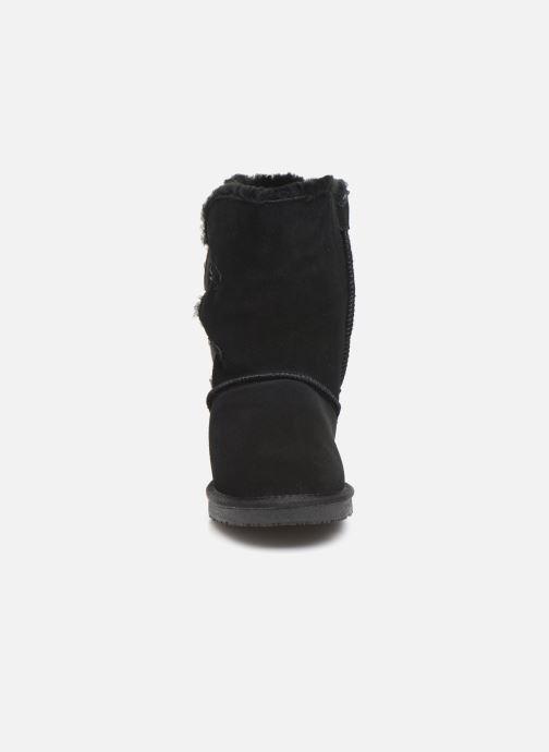 Bottes Minnetonka Caskad Noir vue portées chaussures