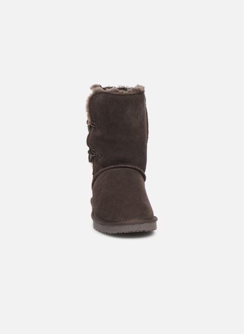 Bottes Minnetonka Caskad Marron vue portées chaussures