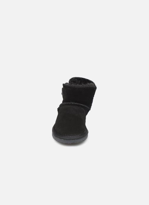 Bottes Minnetonka Eklay Noir vue portées chaussures