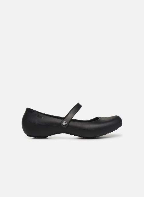 Ballerina's Crocs Alice Work Zwart achterkant