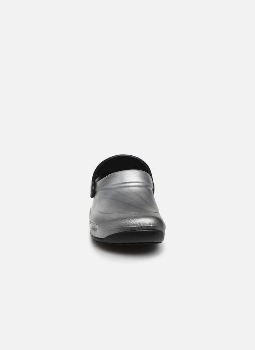 Crocs Bistrogrphicclg W (gris) - Mules Et Sabots Gris (metallic Silver) 4Xa4iIio