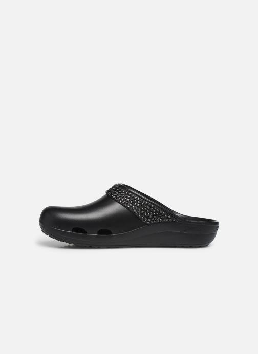 Wedges Crocs SlnDiamntClgW Zwart voorkant