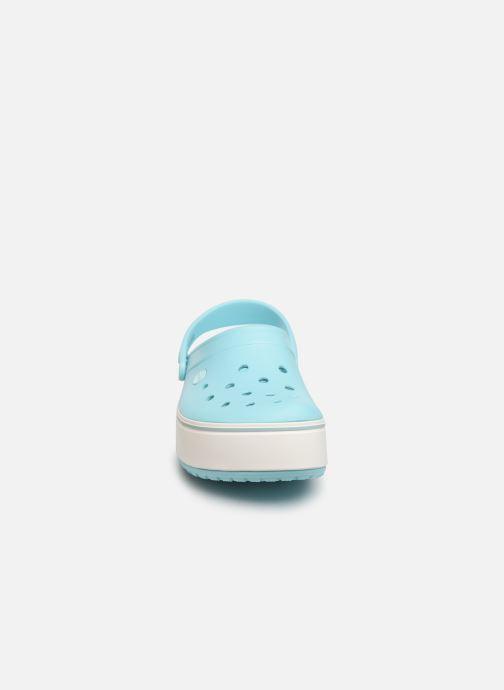 Mules et sabots Crocs CBPlatformClg W Bleu vue portées chaussures
