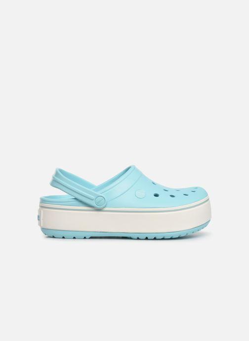 Zuecos Crocs CBPlatformClg W Azul vistra trasera
