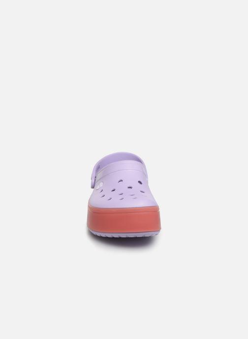 Mules et sabots Crocs CBPlatformClg Violet vue portées chaussures