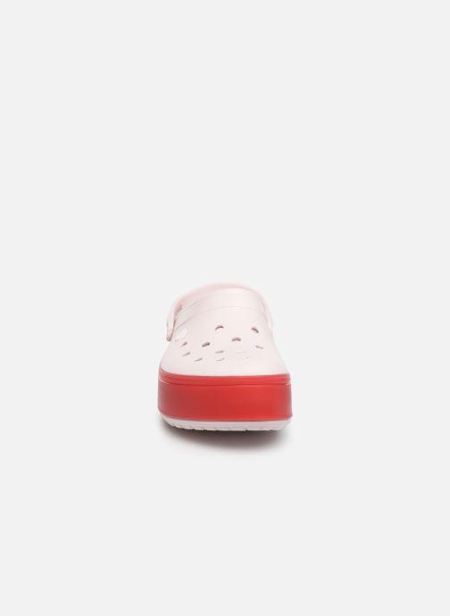 Mules et sabots Crocs CBPlatformClg Rose vue portées chaussures