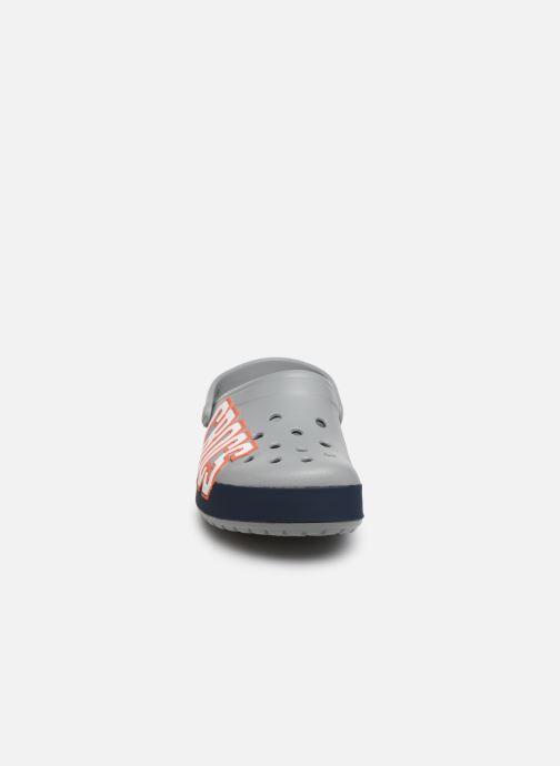 Clogs & Pantoletten Crocs CrocbandLgClg W grau schuhe getragen