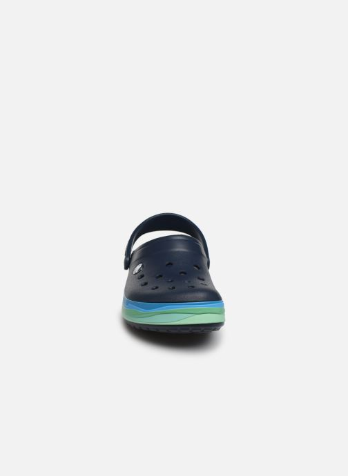 Mules et sabots Crocs CrocbandWvyBClg W Bleu vue portées chaussures