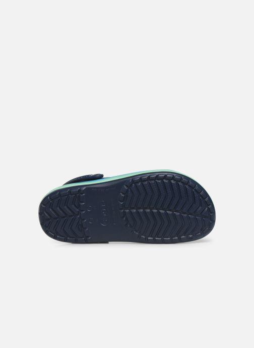 Mules et sabots Crocs CrocbandWvyBClg W Bleu vue haut