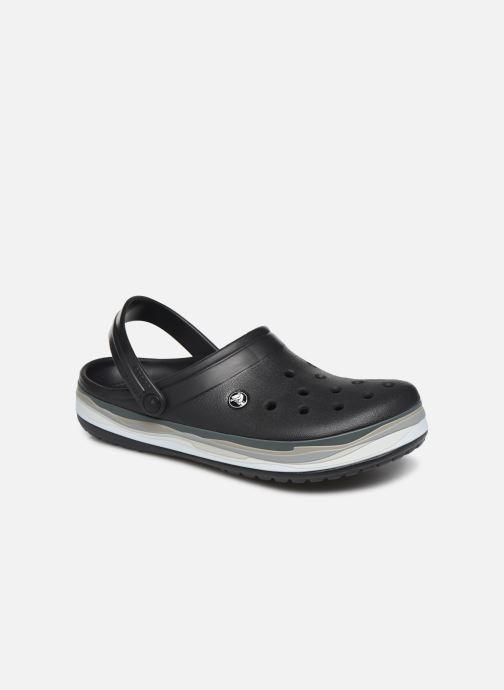 Sandals Crocs CrocbandWvyBClg Black detailed view/ Pair view