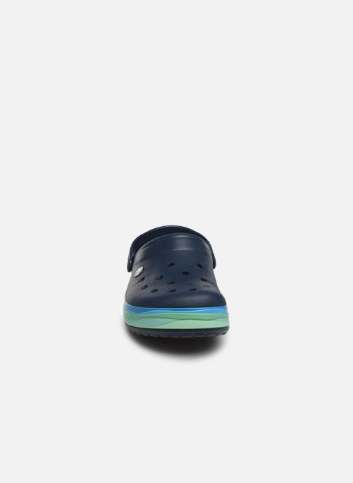 Sandalen Crocs CrocbandWvyBClg blau schuhe getragen