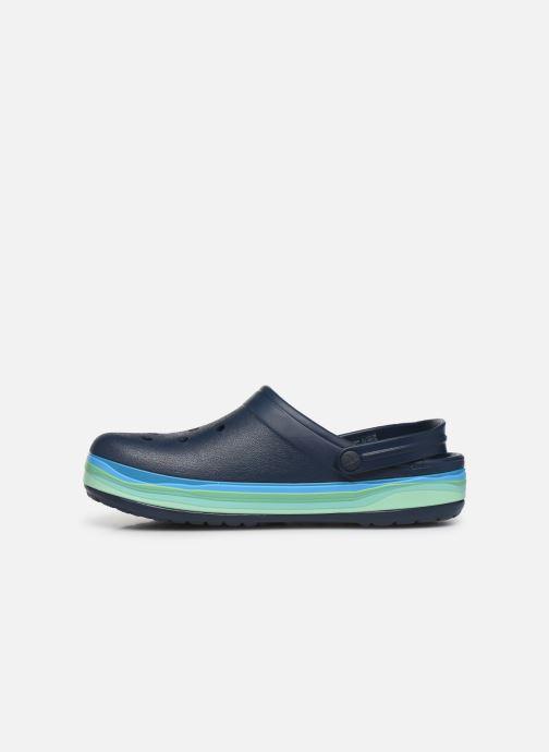 Sandali e scarpe aperte Crocs CrocbandWvyBClg Azzurro immagine frontale