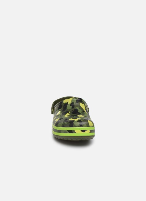 Sandalen Crocs Crocband Seasonal Graphic Clog grün schuhe getragen
