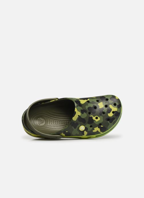 Sandales et nu-pieds Crocs Crocband Seasonal Graphic Clog Vert vue gauche