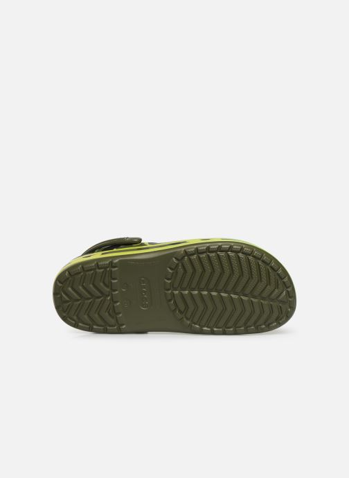 Sandales et nu-pieds Crocs Crocband Seasonal Graphic Clog Vert vue haut