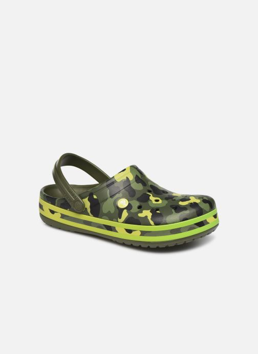 Sandalias Crocs Crocband Seasonal Graphic Clog Verde vista de detalle / par