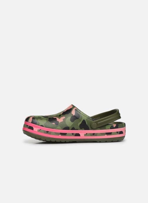 Sandales et nu-pieds Crocs Crocband Seasonal Graphic Clog Vert vue face