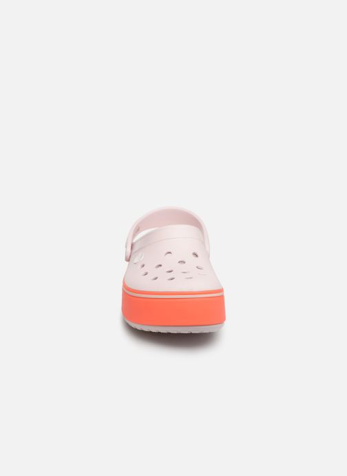 Sandals Crocs CBPltfrmClgGS Pink model view