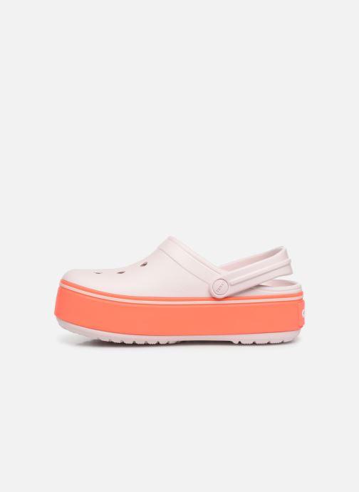 Sandals Crocs CBPltfrmClgGS Pink front view