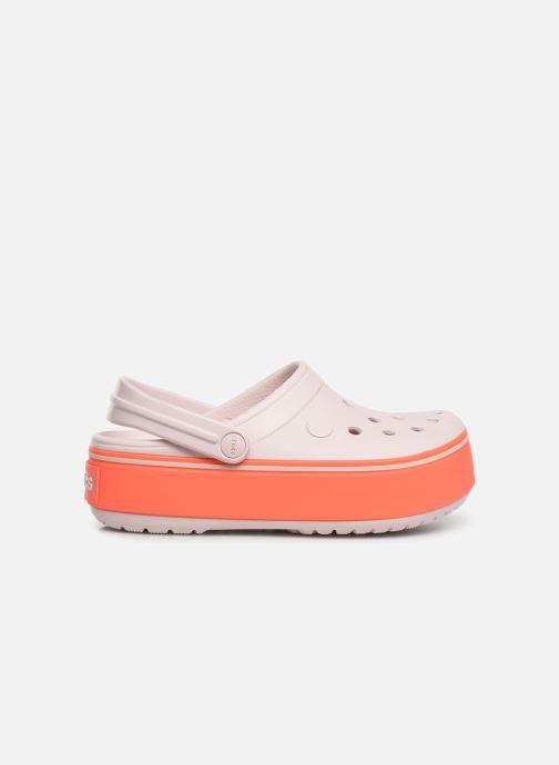 Sandals Crocs CBPltfrmClgGS Pink back view