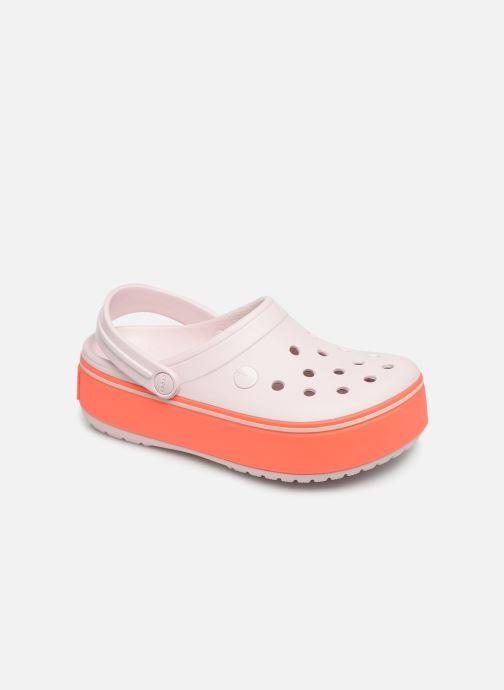 Sandals Crocs CBPltfrmClgGS Pink detailed view/ Pair view