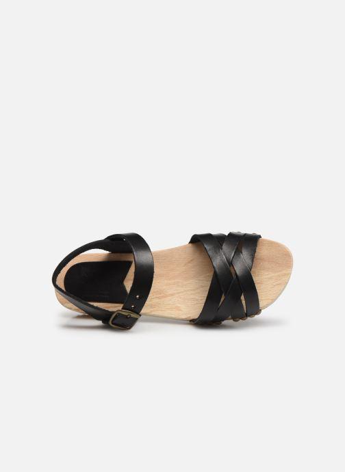 Sandalen Kickers Solar Zwart links