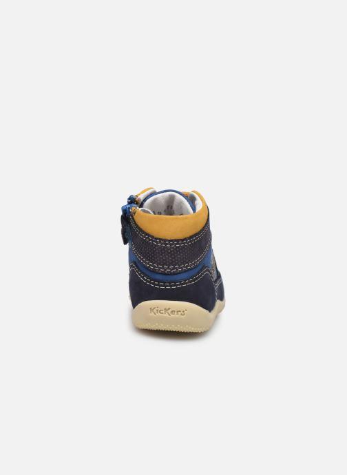 Bottines et boots Kickers Biboy Bleu vue droite