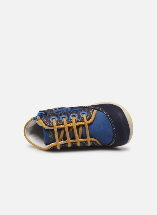 Botines  Kickers Biboy Azul vista lateral izquierda