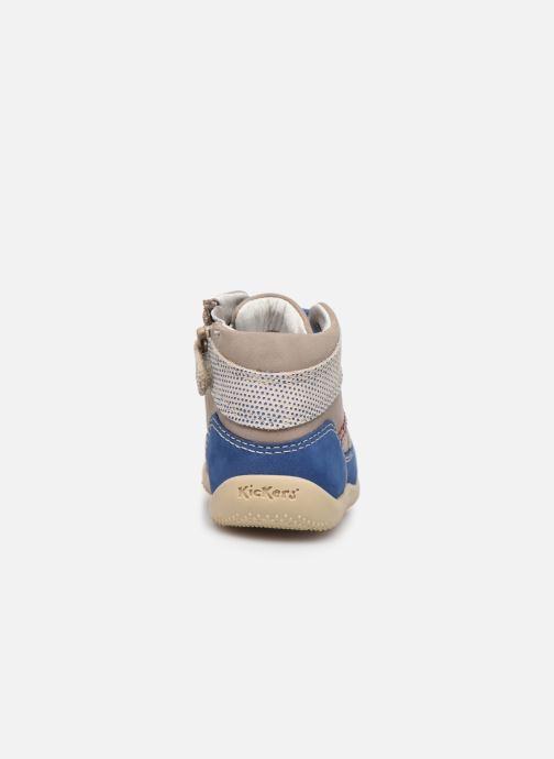 Boots en enkellaarsjes Kickers Biboy Grijs rechts