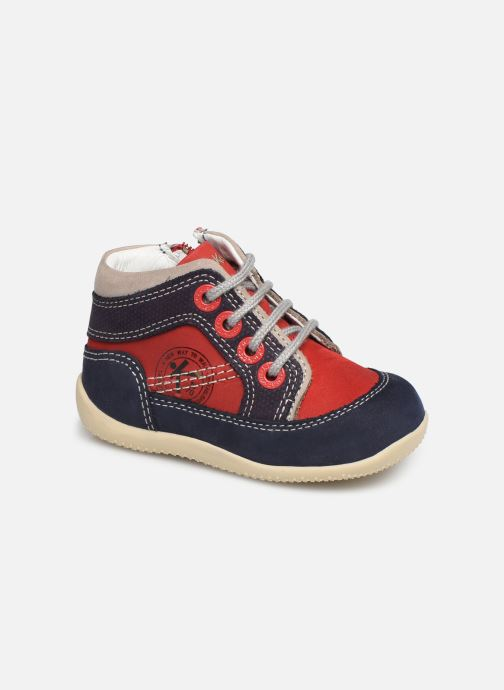 Boots en enkellaarsjes Kickers Biboy Rood detail