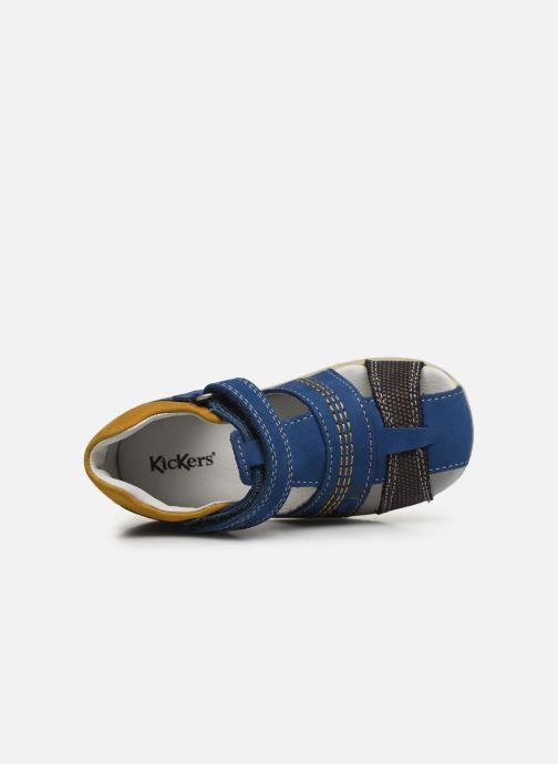Sandalen Kickers Bonus blau ansicht von links