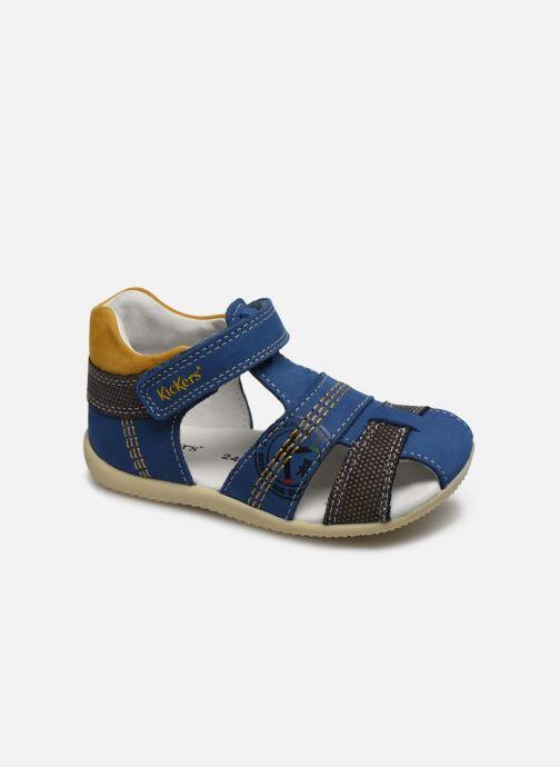 Sandales et nu-pieds Kickers Bonus Bleu vue détail/paire