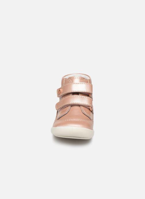 Bottines et boots Kickers Kimono Rose vue portées chaussures