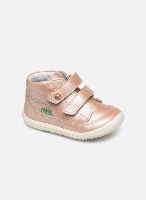 Bottines et boots Kickers Kimono Rose vue détail/paire