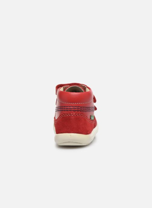 Bottines et boots Kickers Kimono Rouge vue droite