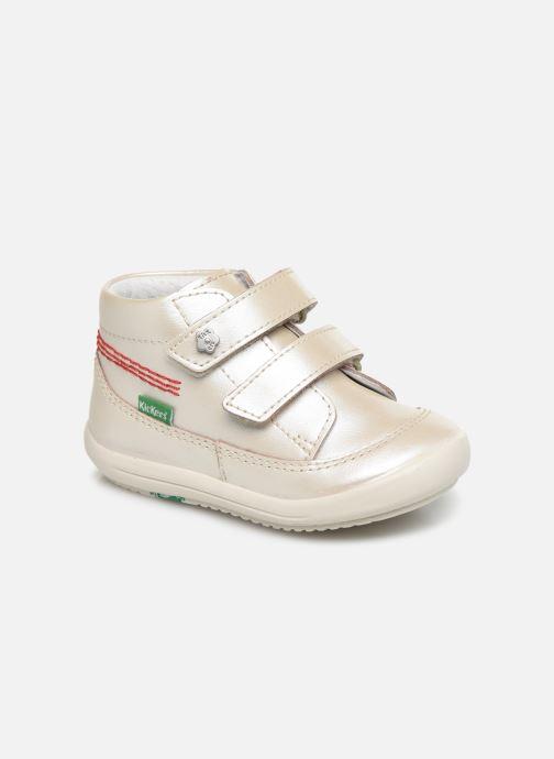 Bottines et boots Kickers Kimono Argent vue détail/paire