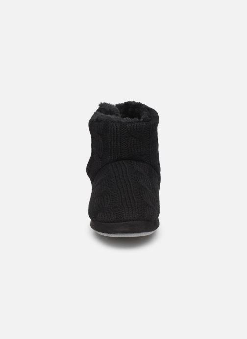 Chaussons Sarenza Wear Chaussons boots boutons Femme Noir vue portées chaussures