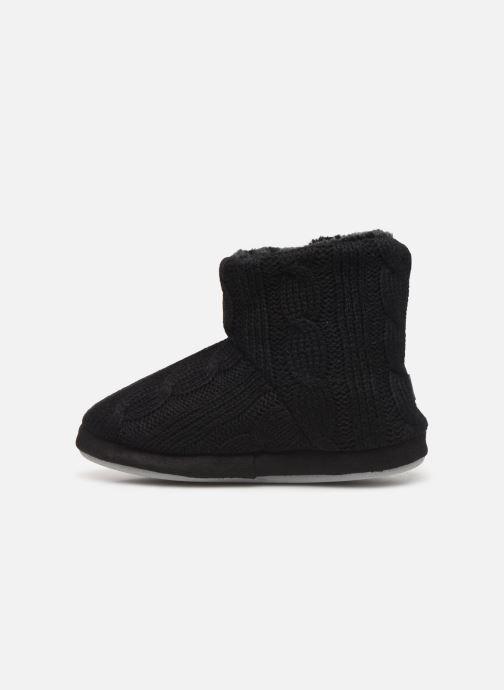 Chaussons Sarenza Wear Chaussons boots boutons Femme Noir vue face
